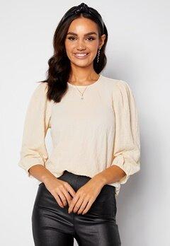 Happy Holly Fredrika puff sleeve blouse Winter white bubbleroom.se