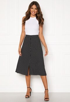 Happy Holly Frida button skirt Black / Dotted Bubbleroom.se