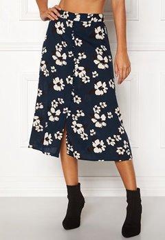 Happy Holly Frida button skirt Dark blue / Patterned Bubbleroom.se
