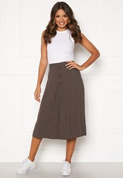 Happy Holly Frida button skirt Brown / Dotted Bubbleroom.se