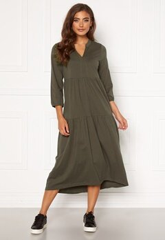 Happy Holly Gabriella dress Khaki green Bubbleroom.se