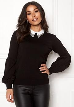 Happy Holly Gaby sweater Black Bubbleroom.se