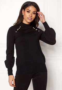 Happy Holly Genette sweater Black Bubbleroom.se