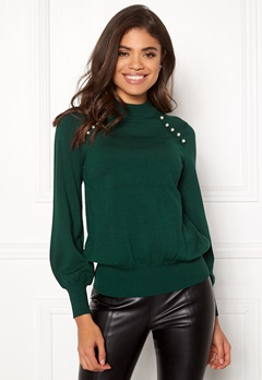 Happy Holly Genette sweater Dark green Bubbleroom.se
