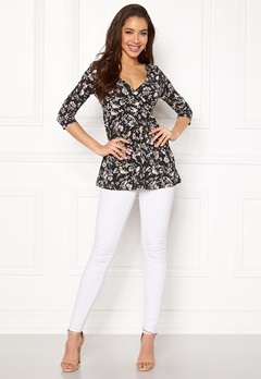 Happy Holly Gessica top Black / Patterned Bubbleroom.fi