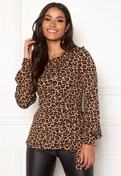 Happy Holly Gianna top Leopard / Patterned Bubbleroom.se
