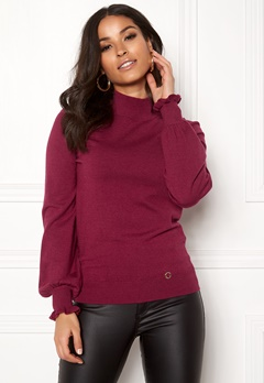 Happy Holly Haddie sweater Wine-red Bubbleroom.se