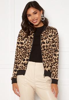 Happy Holly Hanna bomber jacket Leopard Bubbleroom.se
