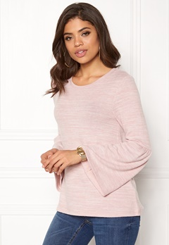Happy Holly Hattie sweater Dusty pink / Melange Bubbleroom.se