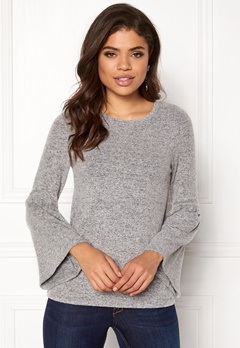 Happy Holly Hattie sweater Grey melange Bubbleroom.se