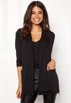 Happy Holly Hayley tricot blazer Black Bubbleroom.se