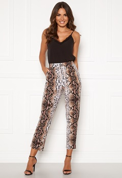 Happy Holly Hazel tricot pants Animal print Bubbleroom.se