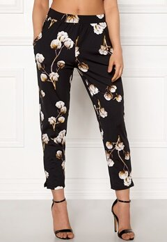 Happy Holly Hazel tricot pants Black / Patterned Bubbleroom.se