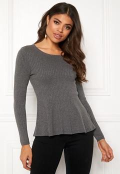 Happy Holly Henrietta sweater Grey melange Bubbleroom.se