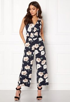 Happy Holly Iman jumpsuit Dark navy / Patterned Bubbleroom.se