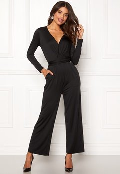 Happy Holly Iman ls jumpsuit Black Bubbleroom.se