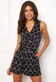 Happy Holly Iman playsuit Black / Patterned Bubbleroom.se