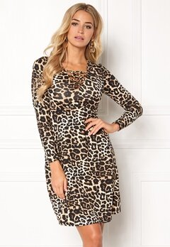 Happy Holly Irina dress Leopard Bubbleroom.se