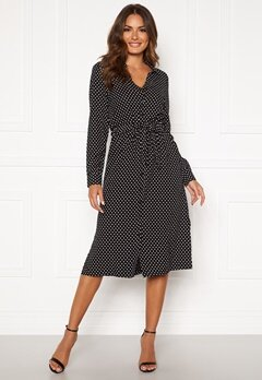 Happy Holly Iris Shirt dress Black / Dotted Bubbleroom.se