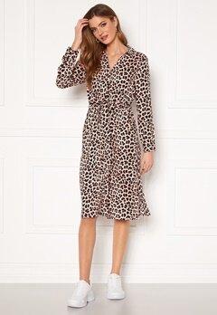 Happy Holly Iris Shirt dress Leopard Bubbleroom.se