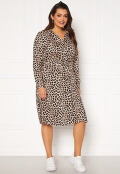 Happy Holly Iris Shirt dress Leopard Bubbleroom.se