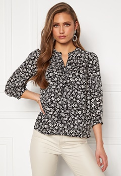 Happy Holly Isabella blouse Black / Patterned Bubbleroom.se
