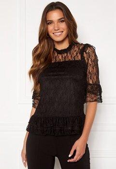 Happy Holly Isabella lace top Black Bubbleroom.se