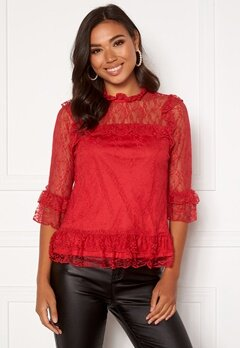 Happy Holly Isabella lace top Red Bubbleroom.se
