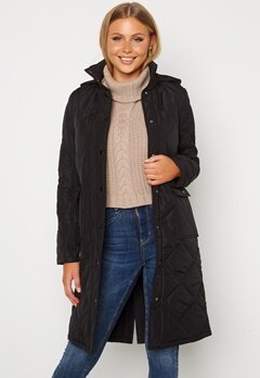Happy Holly Isabelle Quilted Coat Black bubbleroom.se