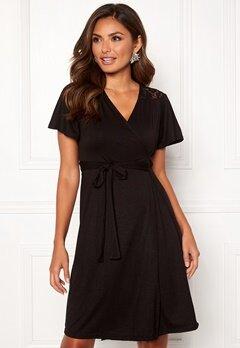 Happy Holly Ivy wrap dress Black Bubbleroom.se