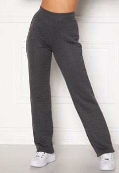 Happy Holly Jade soft pants Dark grey melange bubbleroom.se