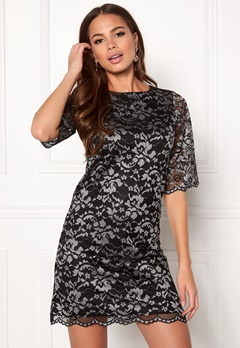 Happy Holly Jade lace dress Black / Light grey Bubbleroom.se