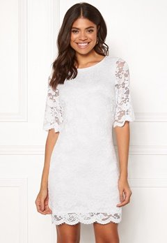 Happy Holly Jade lace dress White Bubbleroom.se