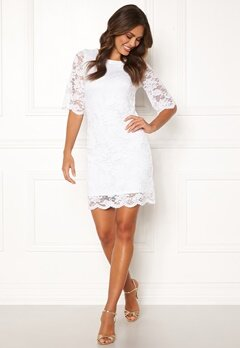 Happy Holly Jade lace dress White Bubbleroom.se