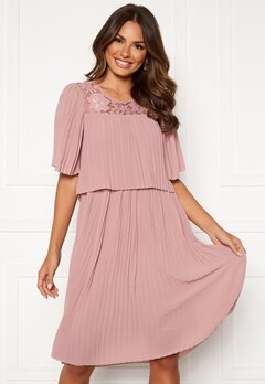 Happy Holly Jannica midi dress Dusty pink Bubbleroom.se