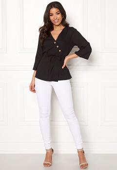 Happy Holly Jasmine blouse Black Bubbleroom.se