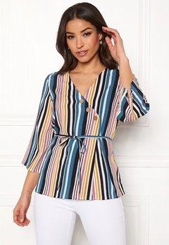 Happy Holly Jasmine blouse Striped Bubbleroom.se