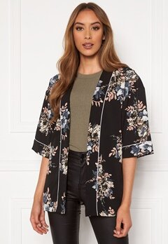 Happy Holly Jelena kimono blouse Black / Patterned Bubbleroom.se
