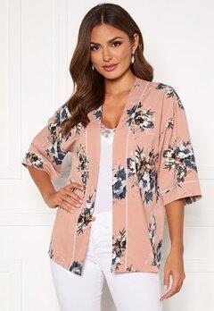Happy Holly Jelena kimono blouse Pink / Patterned Bubbleroom.se