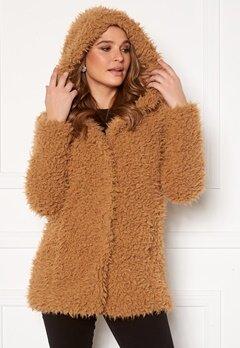 Happy Holly Jenny fur coat Camel Bubbleroom.se