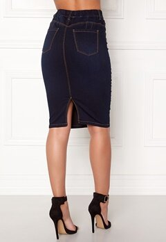 Happy Holly Jess denim skirt Dark denim Bubbleroom.se