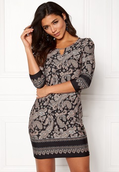 Happy Holly Jessie dress Black / Patterned Bubbleroom.se