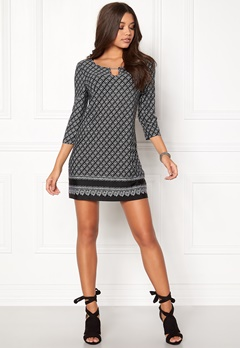 Happy Holly Jessie dress Black / Offwhite Bubbleroom.fi