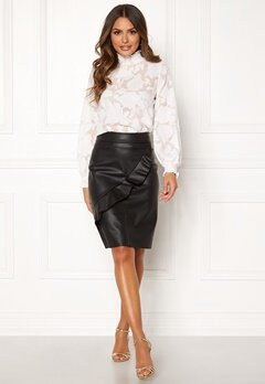 Happy Holly Johanna PU skirt Black Bubbleroom.se