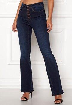 Happy Holly Josie bootcut jeans Dark denim Bubbleroom.se