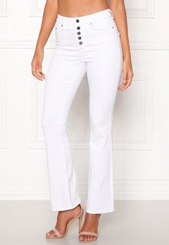 Happy Holly Josie bootcut jeans White Bubbleroom.se