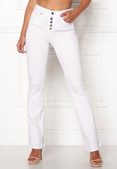 Happy Holly Josie bootcut jeans White Bubbleroom.se