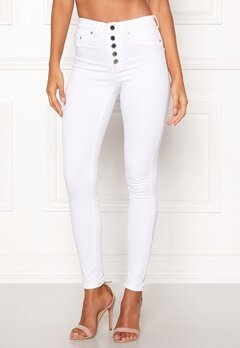 Happy Holly Josie jeans White Bubbleroom.se