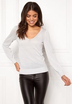 Happy Holly Joslyn lurex sweater Silver grey Bubbleroom.se