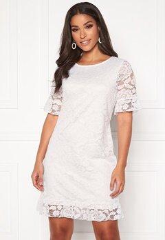 Happy Holly Julianne flounce lace dress White bubbleroom.se